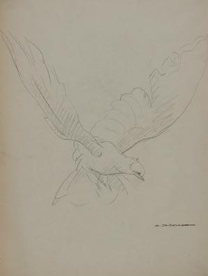 P8 colomba in volo marcello dudovich for Carta rinascente