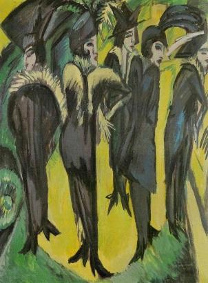 kirchner-cinque donne sulla strada