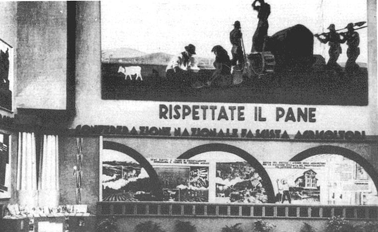 21 Pannello decorativo mostra nazionale del grano 1932 33 (2)